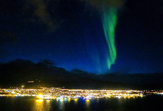 Noorderlicht boven Akureyri