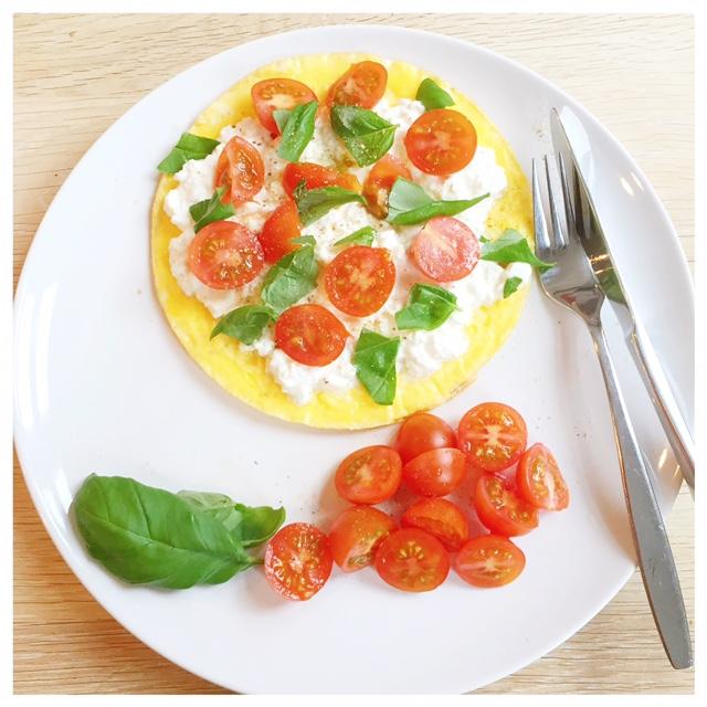 omelet met hutenkase