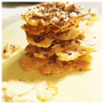 parmezaanse kaaskoekjes met zaden
