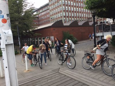 fietsen in hamburg met de groep
