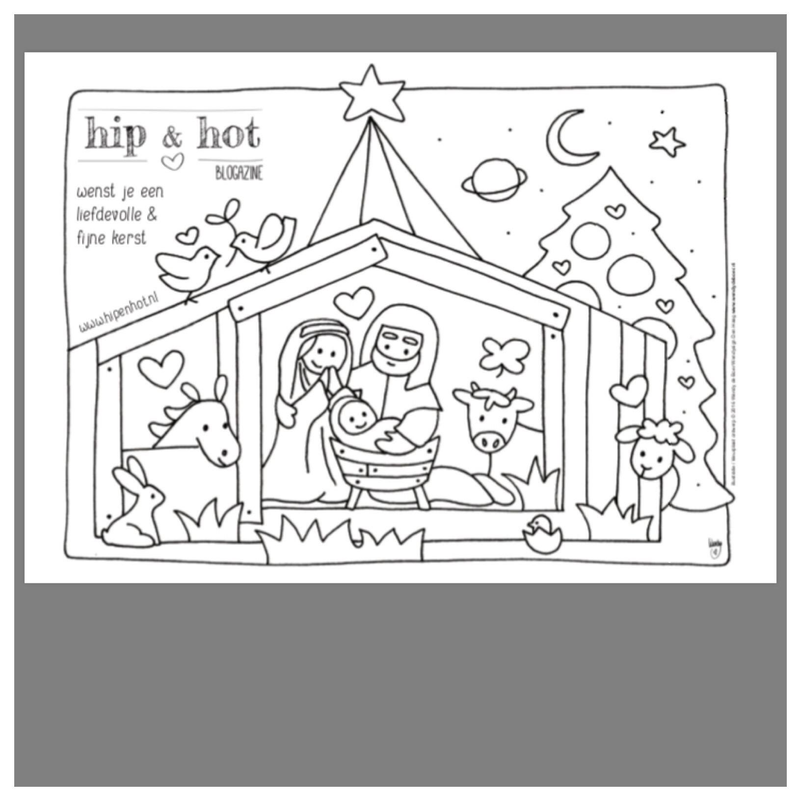 Kerststal Figuren Kleurplaten.Kleurplaten Kerststallen Brekelmansadviesgroep