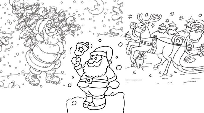 Kleurplaten Kerstman Met Kerstboom.De Leukste Kleurplaten Voor Kerst Hip Hot Blogazine