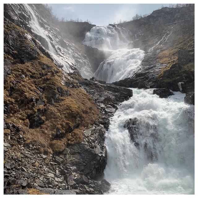 Kjofossen waterval Flåmsbana