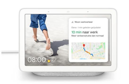 Google nest hub 10 min naar werk