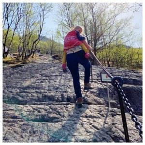 klimmen naar manafossen