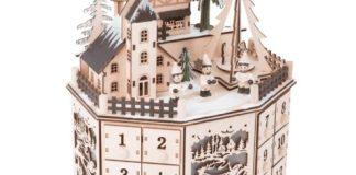 kerstdorpje houten adventskalender