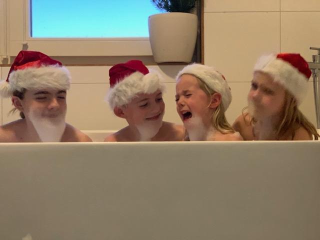 fee huilen kerstkaartfoto