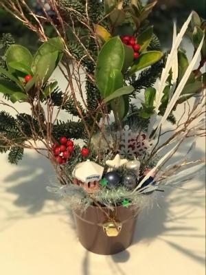 kerststukje met huisjes albert heijn