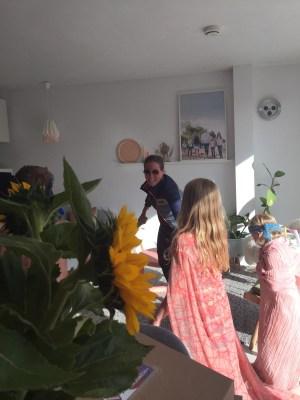 ninja spelen met de kids