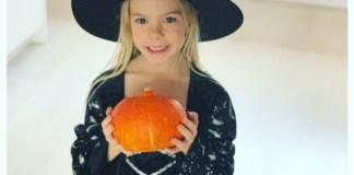 Fee met halloween outfit