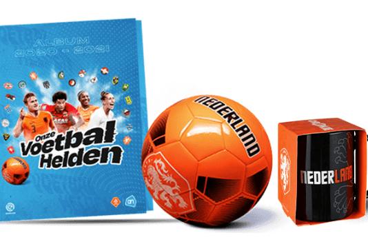Voetbalplaatjes actie Albert Heijn boek en voetbal