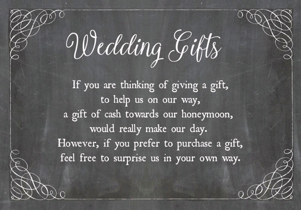 No Wedding Gift List Poem : Wedding Invitation Poem Asking For Money Poems Wishing Well Honeymoon