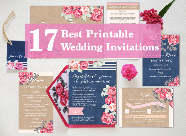 17 Best Printable Print Your Own Diy Wedding Invitations Invites Templates By Hip Ay