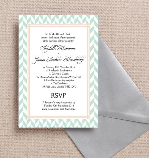 Aqua Mint Peach C Pink Pastel Geometric Bohemian Wedding Invitations Invites Printable Printed By Hip