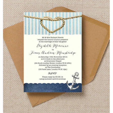 Wedding Invitations 1 Each Nautical Knot Invitation From 163 00