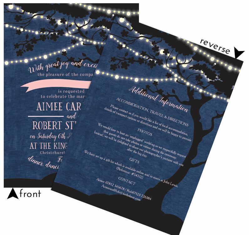 Tree Lights Wedding Invitations