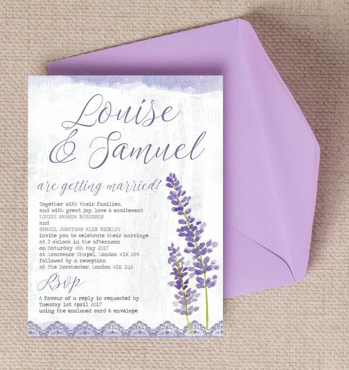 Lilac Lavender Wedding Invitation Additional 1