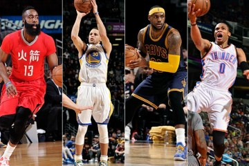 Over the next month, Harden, Curry, LeBron and Westbrook have their work cut out for them.