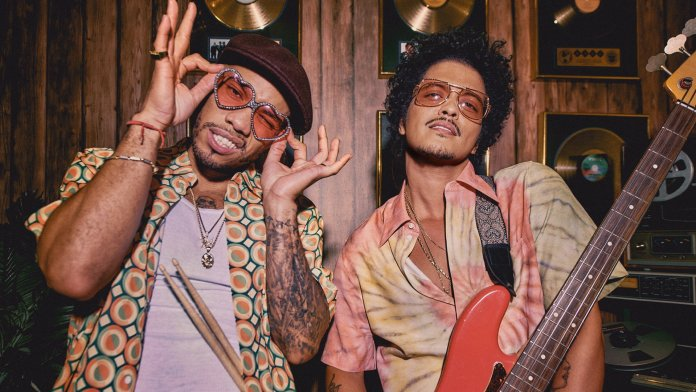 Anderson .Paak & Bruno Mars. Credit Photo by Harper Smith