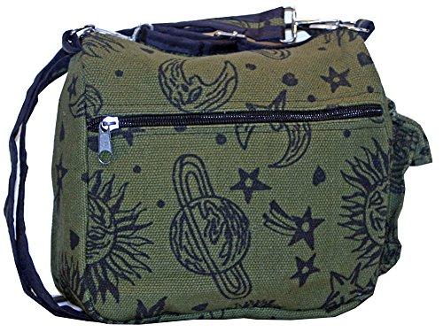 Sun And Moon Unisex Crossbody Single Shoulder Bag Messenger Bag