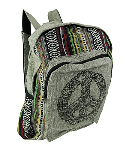 Fashion Outdoor Zipper Drawstring Bag Peace Sign with Love Design Printed Bundle Backpack Unisex Multi-Function Backpack