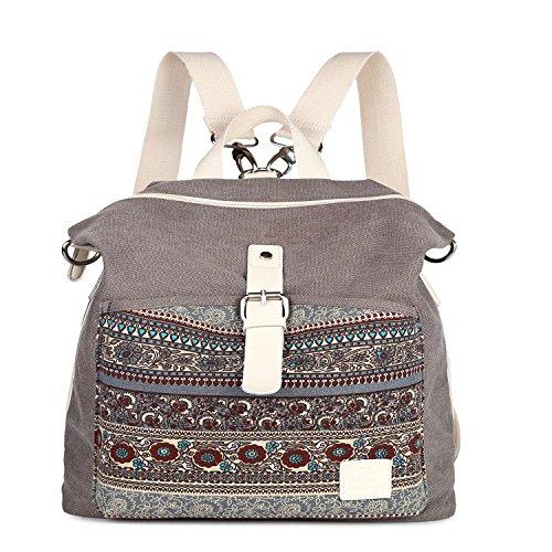 PU Leather Backpack Sunny Forest drawstring for Travel Rucksack Daypack Casual Duffel Shoulder Bag