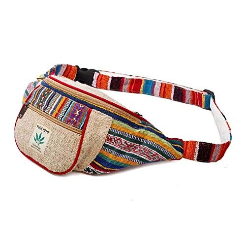 Colorful Striped Elephant Sport Waist Bag Fanny Pack Adjustable For Run