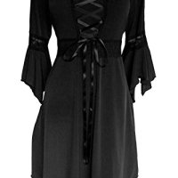 Dare to Wear Women's Plus Size Victorian Gothic Renaissance Corset Dress