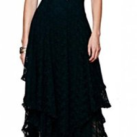 R.Vivimos Women Lace Asymmetrical Long Dresses + Lining 2 Piece