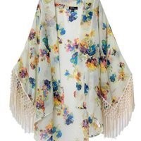 Boho Hippie Casual Chiffon Top Kimono Coat Cape Blazer Jacket