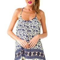 Bluetime Women's Vintage Sleeveless Slip Dress with Spaghetti Straps
