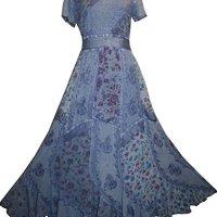 DR 592 Agan Traders Renaissance Vintage Mega Sleeve Long Dress