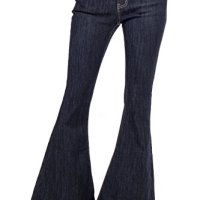 60s 70s Dark Blue Indigo Denim Flares Bell Bottoms Wide Flared Jeans