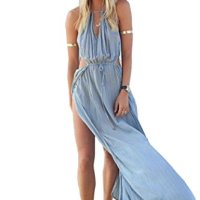 PAKULA® Summer Boho Long Maxi Party Dress Beach Chiffon Dress