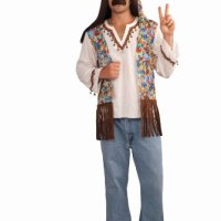Forum Novelties Men's Groovy Hippie Costume Shirt and Headband