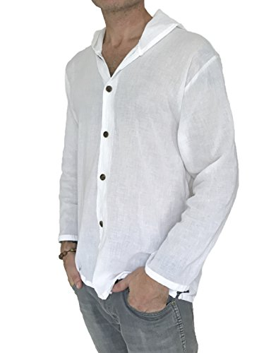 KLJR Men Long Sleeve Hipster Oversized Court Style Button Down Shirts Tops