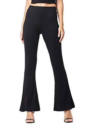 FLCH+YIGE Mens Vintage Elastic Waist Linen Cotton Wide Leg Harem Pants Trousers