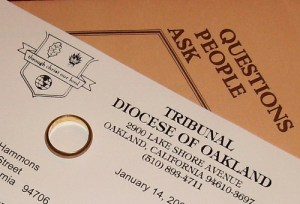 Jane Hammons holy tribunal paperwork and ring