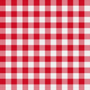 red checked table cloth swatch