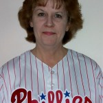 Eileen Cunniffe in phillies jersey