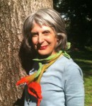 beverly donofrio author by tree with scarf