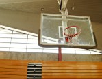 basketball hoop in gym