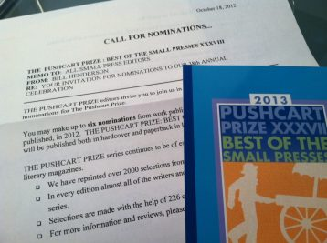 photo of pushcart call for nominations letter