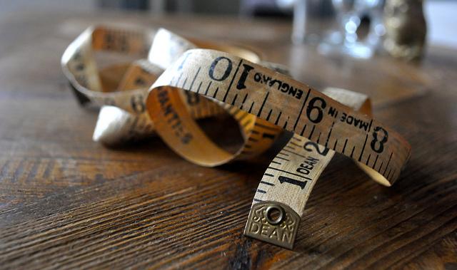 old measuring tape metric