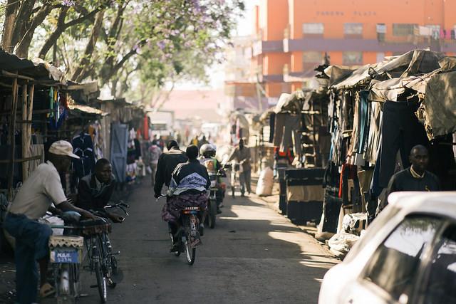market and street in Nakuru, in Kenya