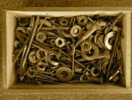 box of screws and washers and odds and ends