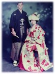 authors parents in traditional japanese wear
