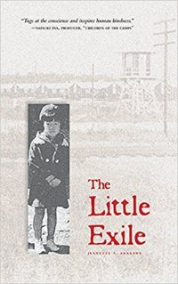 cover image with author photos as child possibly outside camp