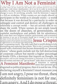 why I am not a feminist cover with background of lots of text, presumably parts of her book
