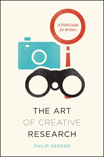book cover with title and icons of camera and binoculars on front